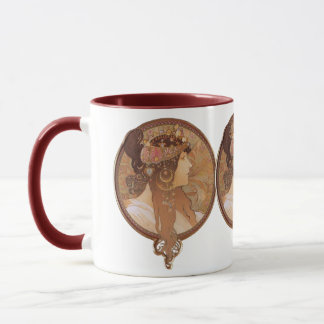 Art Nouveau - Byzantine Head, The Brunette Mug