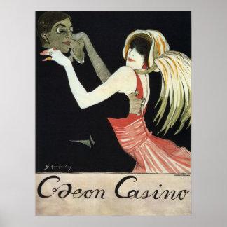 Art Nouveau Caeon Casino Vintage Advertisement Poster
