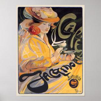 Art Nouveau Café by Toussaint Poster