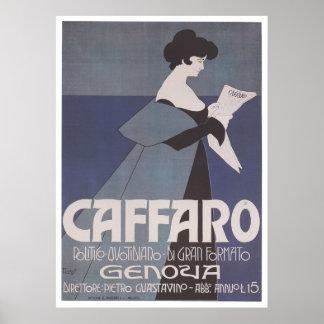 Art Nouveau - Caffaro Poster