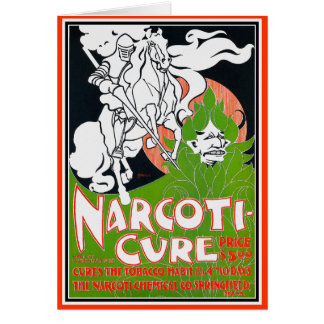 Art Nouveau Card: Narcoti-Cure -William H. Bradley Card