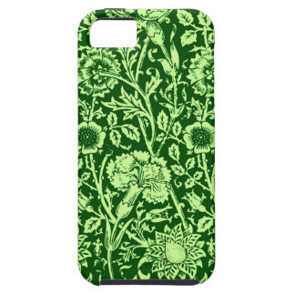 Art Nouveau Carnation Damask, Forest Green Case For The iPhone 5