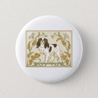 Art Nouveau Cavalier Spaniel Illustration 6 Cm Round Badge