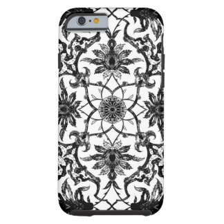 Art Nouveau Chinese Pattern - Black and White Tough iPhone 6 Case