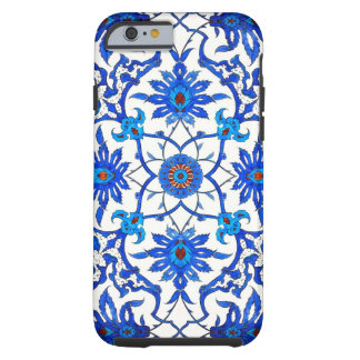 Art Nouveau Chinese Tile - Cobalt Blue & White Tough iPhone 6 Case