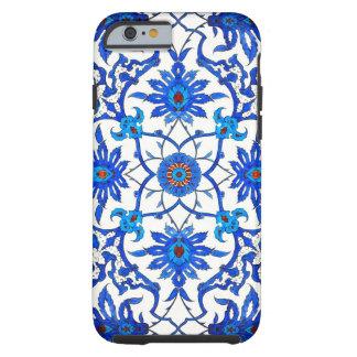 Art Nouveau Chinese Tile - Cobalt Blue & White Tough iPhone 6 Case