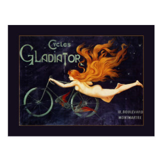 Art Nouveau Cycles Gladiator vintage postcard