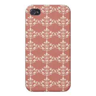 Art Nouveau Damask Floral Case For iPhone 4