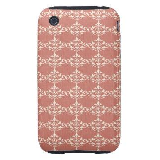 Art Nouveau Damask Floral iPhone 3 Tough Cover