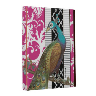Art Nouveau Damask Peacock iPad Case