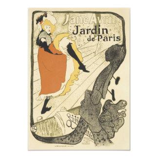 Art Nouveau Dancer Jane Avril, Toulouse Lautrec 13 Cm X 18 Cm Invitation Card
