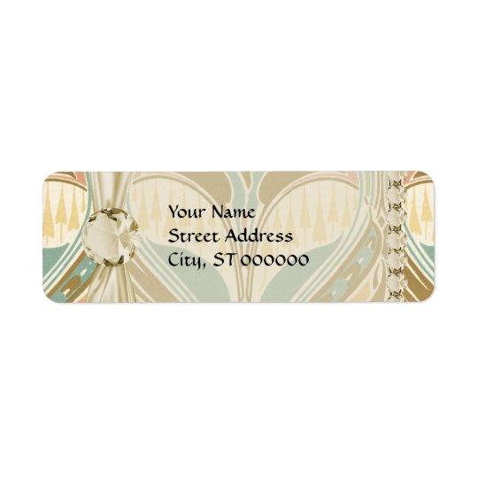 art nouveau decorative bliss pattern return address label