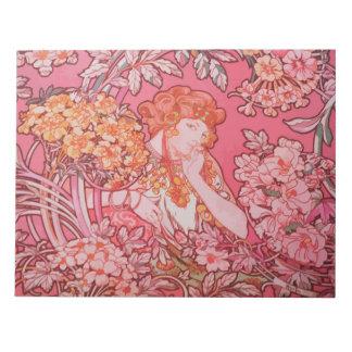 """Art Nouveau design 11"""" x 8.5"""" Notepad - 40 pages"""