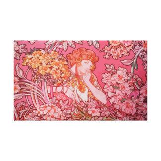 """Art Nouveau design 20"""" x 16"""", 1.5"""", Single Canvas Print"""