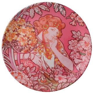 Art Nouveau design Decorative Porcelain Plate