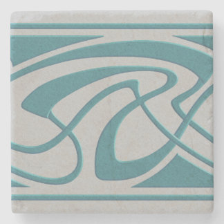 Art Nouveau Design Stone Coaster