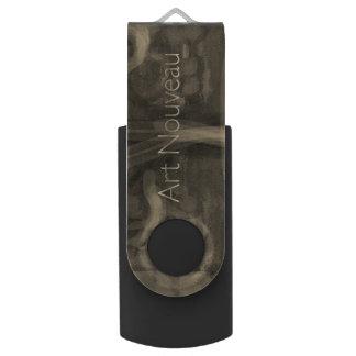 Art Nouveau Design Swivel USB 3.0 Flash Drive