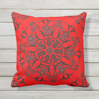 Art Nouveau Design Throw Pillow