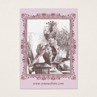 Art Nouveau Diva - Gorgeous Vintage Business Cards