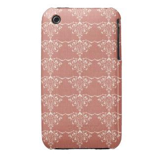 Art Nouveau Elegant Swirly Damask iPhone 3 Case-Mate Case