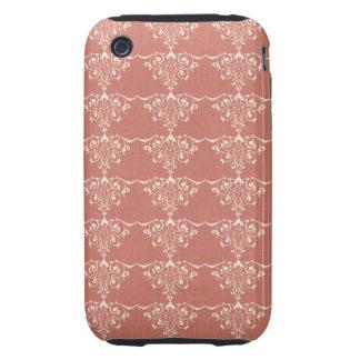 Art Nouveau Elegant Swirly Damask Tough iPhone 3 Case