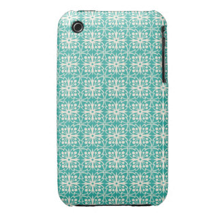 Art Nouveau Floral in Teal iPhone 3 Cases