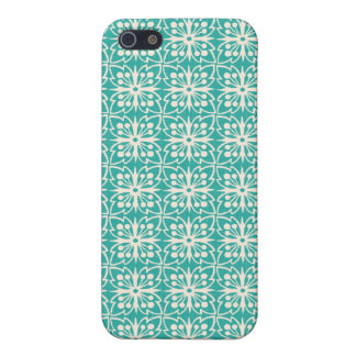 Art Nouveau Floral in Teal iPhone 5 Cover