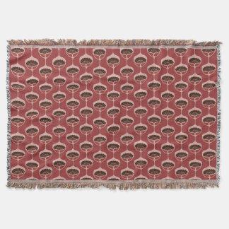 Art Nouveau Floral Pattern Throw Blanket