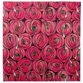Art nouveau Floral Roses Napkin