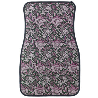 Art Nouveau Flower Pattern Shades of Pink Car Mat