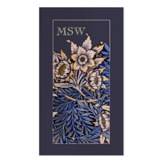 Art Nouveau Flowers Business Card