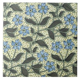 Art Nouveau Forget-me-not Tile