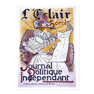 Art Nouveau French political journal Postcard