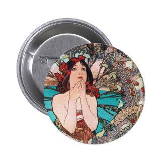 Art Nouveau Goddess Button