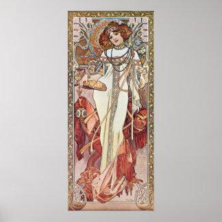 Art Nouveau Goddess Poster