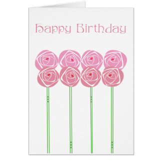 Art Nouveau Happy Birthday In the style of CRM Card