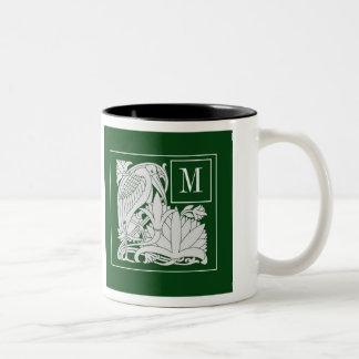 Art Nouveau Heron Monogram Coffee Mug