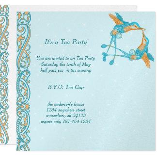 Art Nouveau Hummingbird  Tea Party Invitations