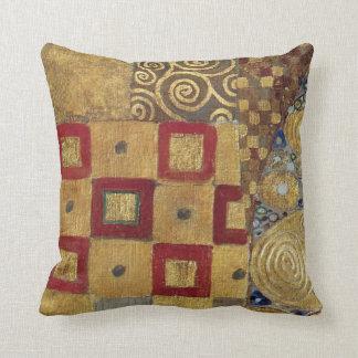 Art Nouveau Klimt - Gold, Red, Old Gold, Silver Cushion