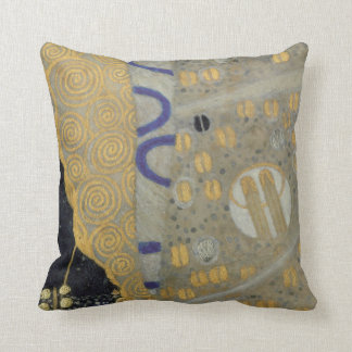 Art Nouveau Klimt in Gold and Black Pillow
