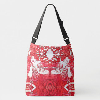 Art Nouveau Lady Bicycle Red Hair Mucha Tote