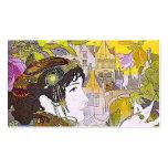 Art Nouveau Lady in a Garden
