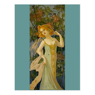 Art Nouveau Lady Postcard