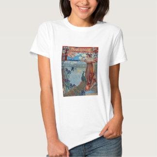 Art Nouveau Lady with Peacock Shirts