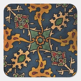 Art Nouveau l'Art Arabic Square Sticker
