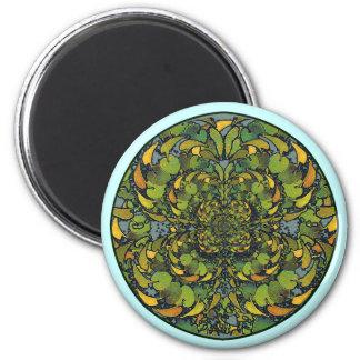 Art Nouveau Leaf Mandala Magnet
