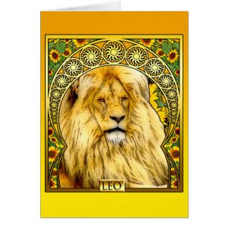 Art Nouveau Leo Card
