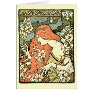 Art Nouveau masterpiece: Paul Berthon Ermitage Card