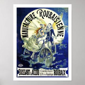 Art Nouveau Masterpiece Vintage Cycles Roubaisien Poster