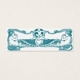 Art nouveau mermaids mini business card